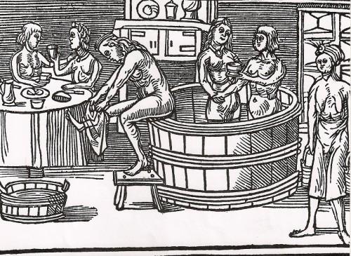 Een 'badhuis' in de Middeleeuwen